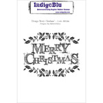 Design Merry Christmas - IndigoBlu Cling Mounted Stamp