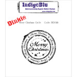 Merry Christmas Circle - IndigoBlu Cling Mounted Stamp