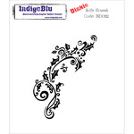 Holly Flourish - Dinkie - IndigoBlu Cling Mounted Stamp