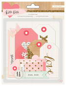 Kiss Kiss Layered Tags - Crate Paper