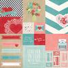 Elements #2 Paper - Hugs & Kisses - Simple Stories
