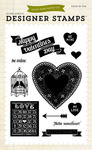 Hello Sweetheart 4 x 6 Stamp Sheet - Echo Park