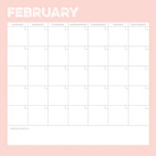 February Calendar Paper - Life Documented - Simple Stories