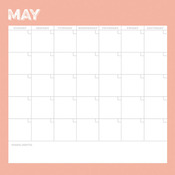 May Calendar Paper - Life Documented - Simple Stories