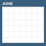 June Calendar Paper - Life Documented - Simple Stories