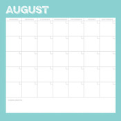 August Calendar Paper - Life Documented - Simple Stories