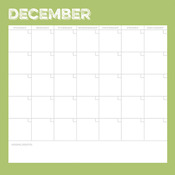 December Calendar Paper - Life Documented - Simple Stories