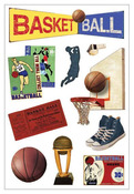 Vintage Basketball Foam Stickers - Momenta