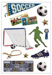 Vintage Soccer Foam Stickers - Momenta