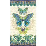 """8""""X15"""" 14 Count - Peacock Butterflies Counted Cross Stitch Kit"""
