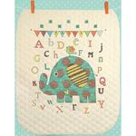 "34""X43"" - Baby Elephant ABC Quilt Stamped Cross Stitch Kit"