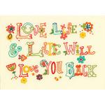 "7""X5"" - Love Life Mini Embroidery Kit"