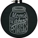 "6"" Round - Stitch Wits Mom's Kitchen Mini Stamped Embroidery Kit"