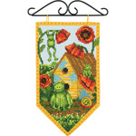 """5""""X8"""" 14 Count - Debbie Mumm Summer Banner Counted Cross Stitch Kit"""