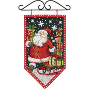 "5""X8"" 14 Count - Debbie Mumm Winter Banner Counted Cross Stitch Kit"