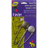 Pewter & Nickel - Metal Engraved Vintage Flower Shawl Pin Dritz-Metal Engraved Vintage Flower Shawl Pin: Pewter & Nickel. The perfect fashion accessory for shawls, scarves and vests! Can be used on any loose weave fabric or knit. Keeps shawl or scarf folds in place as desired. Wear as a brooch or to close a knitted bag top. This package contains two 3 inch metal engraved vintage flower head shawl pins. Imported.