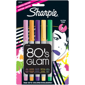 80's Glam - Sharpie Ultra Fine Point Limited Ed Permanent Markers 5/Pkg