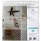 Gold Foil With Stickers Photo Pocket Pages - Heidi Swapp