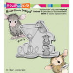 Martini Mice - Stampendous House Mouse Cling Rubber Stamp