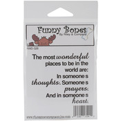 The Most Wonderful Places To Be - Riley & Company Funny Bones Cling Mounted Stam