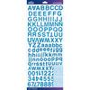 Blue Foil Helvetica Standard - Sticko Alphabet Stickers