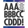 Black Glitter Futura Regular XL - Sticko XL Alphabet Stickers