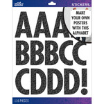 Black Glitter Futura Regular XL - Sticko XL Alphabet Stickers