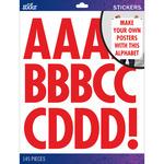 Red Futura Regular XL - Sticko XL Alphabet Stickers