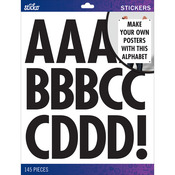 Black Futura Regular XL - Sticko XL Alphabet Stickers
