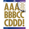 Gold Glitter Futura Regular XL - Sticko XL Alphabet Stickers
