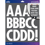White Futura Regular XL - Sticko XL Alphabet Stickers