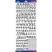 Black Script - Sticko Alphabet Stickers