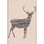 Cross - Hatch Reindeer - Hero Arts Mounted Rubber Stamps