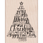 Merry Christmas Tree - Hero Arts Mounted Rubber Stamps