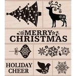Fancy Christmas - Hero Arts Mounted Rubber Stamp Set
