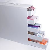 White - Totally-Tiffany Stash And Store 5-Drawer Case