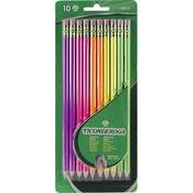 Assorted Neon - Ticonderoga #2 Pencils 10/Pkg