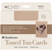 "Toned Tan - Strathmore Cards & Envelopes 5""X6.875"" 10/Pkg"