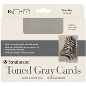 "Toned Gray - Strathmore Cards & Envelopes 5""X6.875"" 10/Pkg"