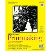 "30 Sheets - Strathmore Lightweight Printmaking Paper Pad 11""X14"""