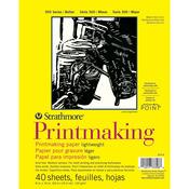 "40 Sheets - Strathmore Lightweight Printmaking Paper Pad 8""X11"""