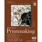 "20 Sheets - Strathmore Heavyweight Printmaking Paper Pad 11""X14"""