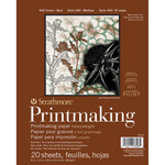 "20 Sheets - Strathmore Heavyweight Printmaking Paper Pad 8""X10"""