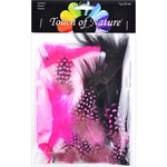 Black, White & Hot Pink - Mix Package Feathers 7 Grams/Pkg