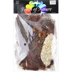 Chocolate, Natural & Sienna - Mix Package Feathers 7 Grams/Pkg