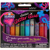 Classic Rainbow - Elmers 3D Washable Glitter Pens 10/Pkg