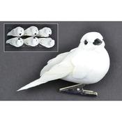 """White Dove - Mushroom Birds 3"""" 6/Pkg"""