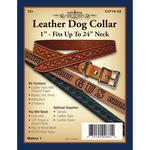 "Leather Dog Collar 1""-"