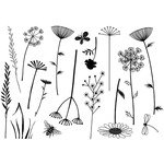 Build A Meadow - Crafty Individuals Unmounted Rubber Stamp
