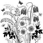 Spring Flower Garden - Crafty Individuals Unmounted Rubber Stamp